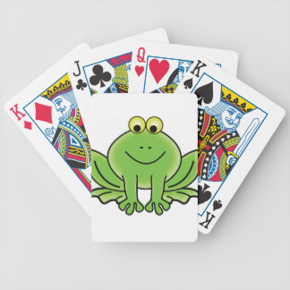 cartoon frog fun art bicycle playing cards