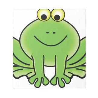 cartoon frog fun art notepad