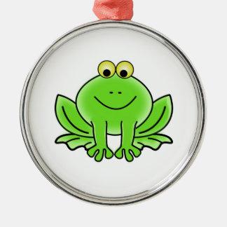 Cartoon Frog Metal Ornament
