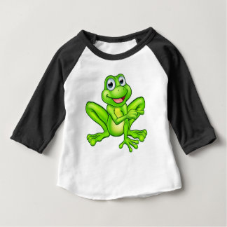Cartoon Frog Pointing Baby T-Shirt