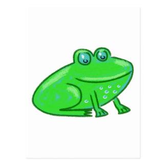 Cartoon Frog Postcard