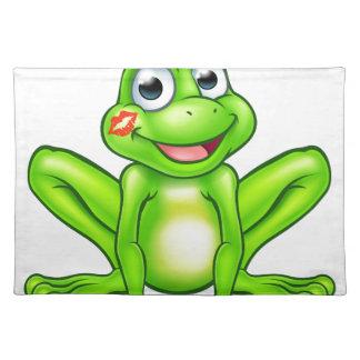 Cartoon Frog Prince Kiss Placemat