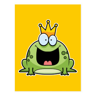 Cartoon Frog Prince Postcard