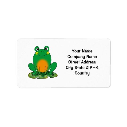 Cartoon frog return address label