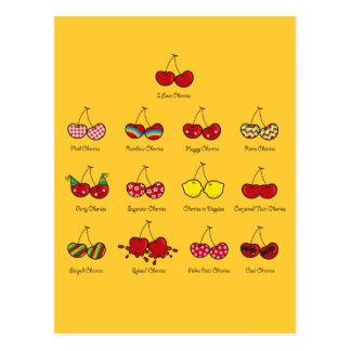 Cartoon Fun Comic Funny Cheeky Red Cherries Cherry Postcard