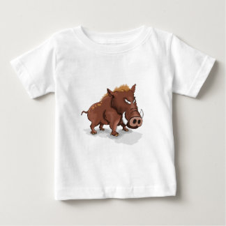 Cartoon funny humours wild brown hog baby T-Shirt