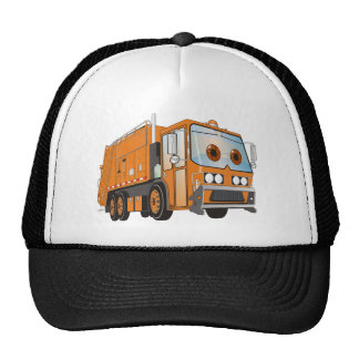 Cartoon Garbage Truck Orange Cap