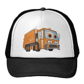 Cartoon Garbage Truck Orange Trucker Hat