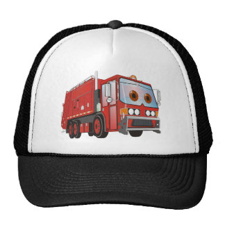 Cartoon Garbage Truck Red Cap