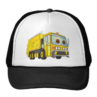 Cartoon Garbage Truck Yellow Hat
