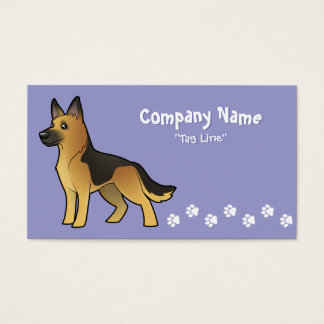 Cartoon German Shepherd Business Card