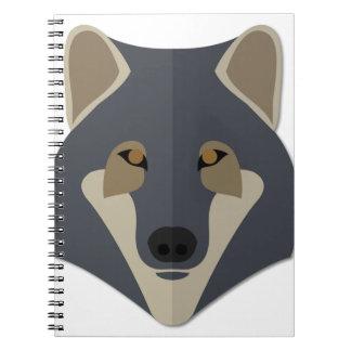 Cartoon Gey Wolf Notebooks