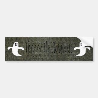 Cartoon Ghosts Vintage Grunge Happy Halloween Car Bumper Sticker