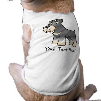 Cartoon Giant/Standard/Miniature Schnauzer Sleeveless Dog Shirt