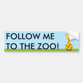 Cartoon Giraffe Bumper Sticker