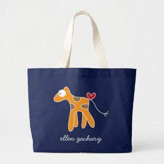 Cartoon Giraffe Kid Cute Custom Gift Tote Bag