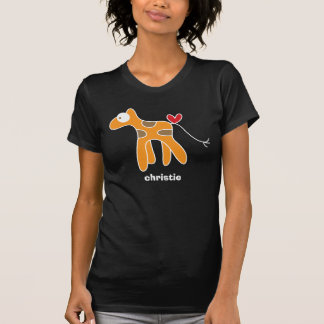 Cartoon Giraffe Kid Cute Fun Custom Gift T-Shirt
