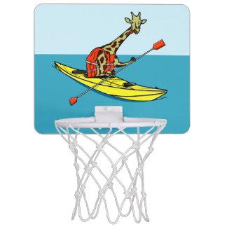 Cartoon giraffe sea kayaking mini basketball hoop