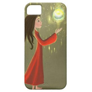 cartoon girl and sun iPhone 5 Cases