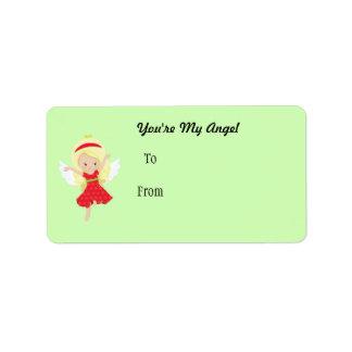 Cartoon Girl Angel Address Label