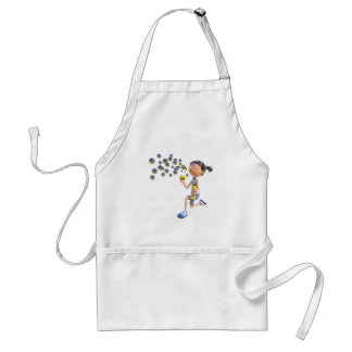 Cartoon Girl Blowing Bubbles Standard Apron