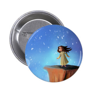 cartoon girl dream button
