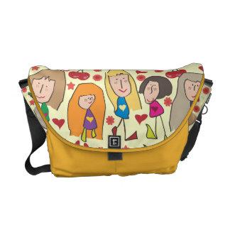 Cartoon Girls Commuter Bag
