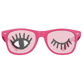 cartoon girly eyes retro sunglasses
