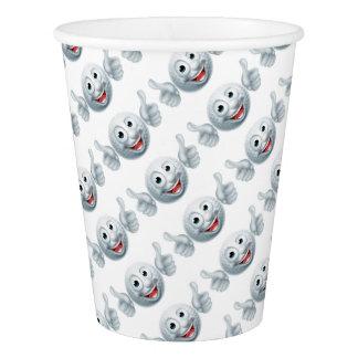 Cartoon Golf Ball Character Paper Cup