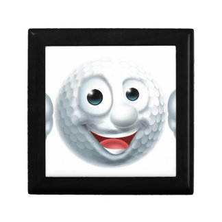 Cartoon Golf Ball Character Small Square Gift Box