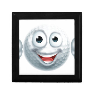 Cartoon Golf Ball Man Character Small Square Gift Box