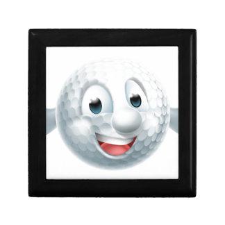 Cartoon Golf Ball Mascot Gift Box