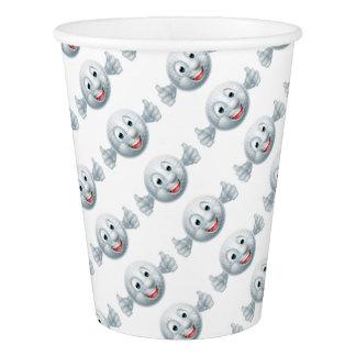 Cartoon Golf Ball Mascot Paper Cup