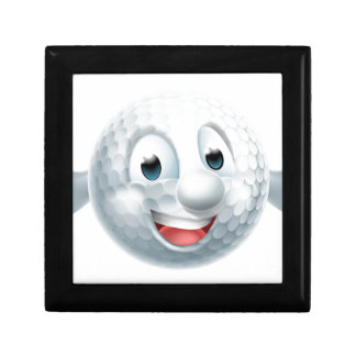 Cartoon Golf Ball Mascot Small Square Gift Box