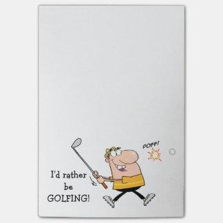Cartoon Golfer Post-it® Notes