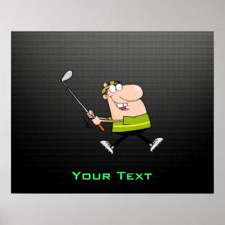 Cartoon Golfer; Sleek Print