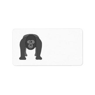 Cartoon Gorilla Address Label