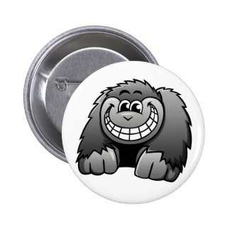 Cartoon Gorilla Pinback Button