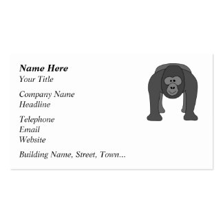 Cartoon Gorilla Pack Of Standard Business Cards