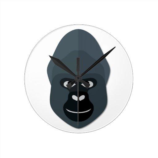 Cartoon Gorilla Head Wall Clocks