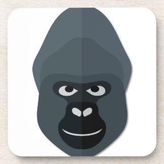 Cartoon Gorilla Head Coasters