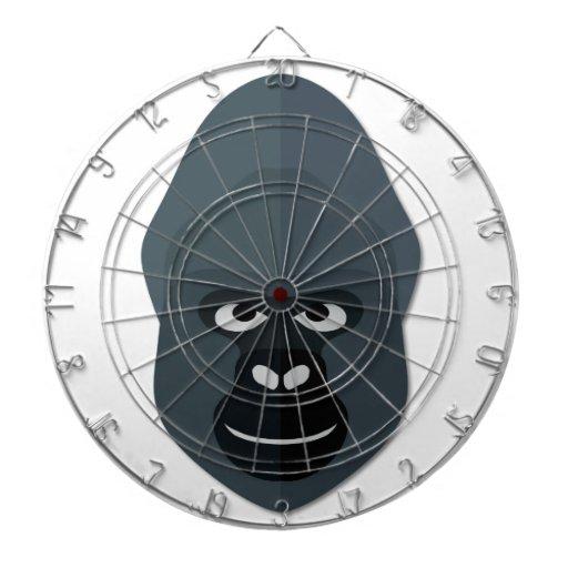 Cartoon Gorilla Head Dart Boards