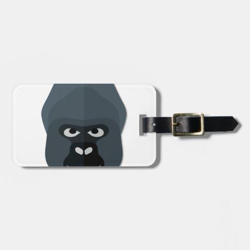 Cartoon Gorilla Head Bag Tag
