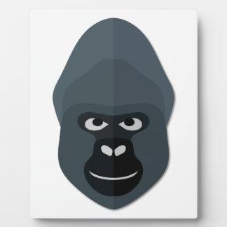 Cartoon Gorilla Head Plaques