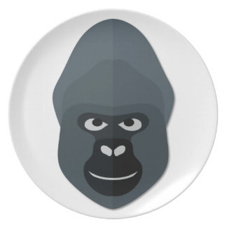 Cartoon Gorilla Head Party Plates