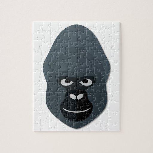 Cartoon Gorilla Head Jigsaw Puzzle