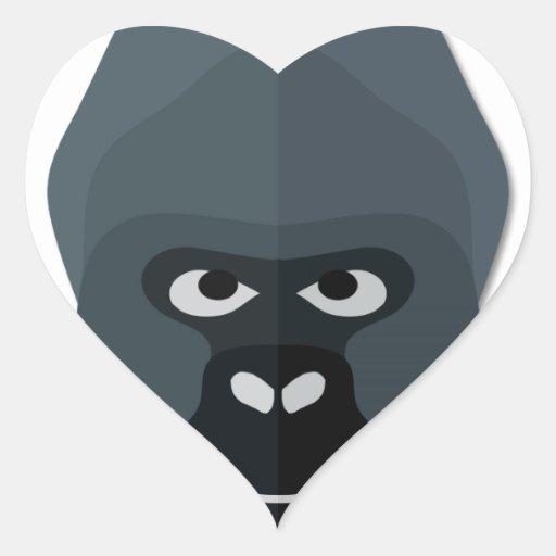 Cartoon Gorilla Head Sticker