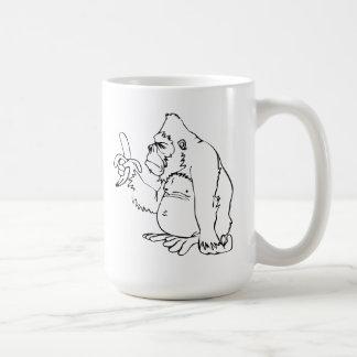 Cartoon Gorilla Holding a Banana Mug