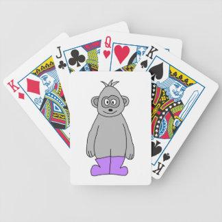 Cartoon Gorilla in Purple Boots. Poker Cards