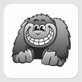 Cartoon Gorilla Square Sticker